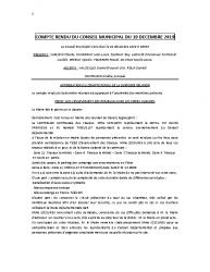 COMPTE RENDU DU CONSEIL DU 19 DECEMBRE 2019
