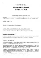 COMPTE RENDU DU CONSEIL DU 2 JUILLET 2020 (1)