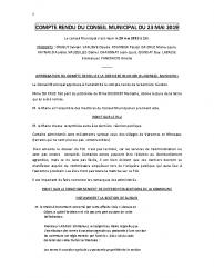COMPTE RENDU DU CONSEIL MUNICIPAL DU 23 MAI 2019