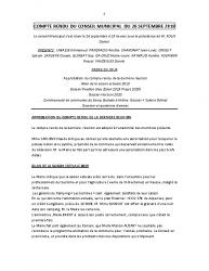 COMPTE RENDU DU CONSEIL MUNICIPAL DU 26 SEPTEMBRE 2019