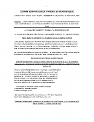 COMPTE RENDU DU CONSEIL MUNICIPAL DU 30 JANVIER 2020